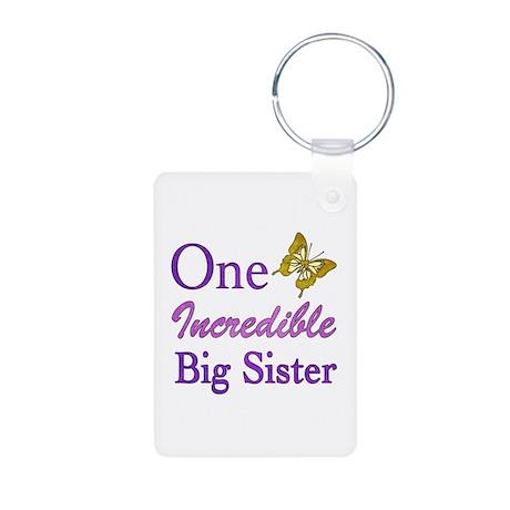 One Incredible Big Sister Aluminum Photo Keychain