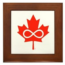 Canadian Metis Flag Framed Tile