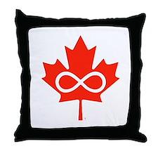 Canadian Metis Flag Throw Pillow