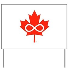 Canadian Metis Flag Yard Sign