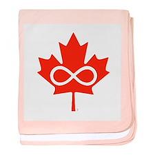 Canadian Metis Flag baby blanket