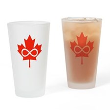 Canadian Metis Flag Drinking Glass