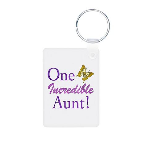 One Incredible Aunt Aluminum Photo Keychain