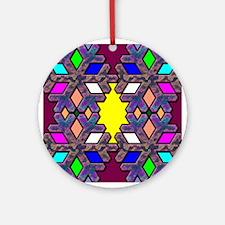 Color Snowflake Ornament (Round)