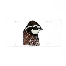 Bobwhite Quail Head Aluminum License Plate