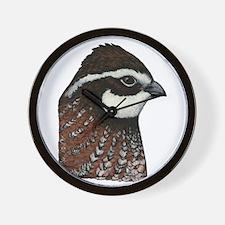 Bobwhite Quail Head Wall Clock