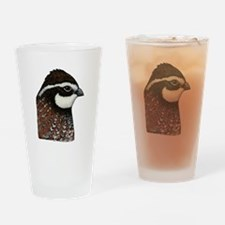 Bobwhite Quail Head Drinking Glass