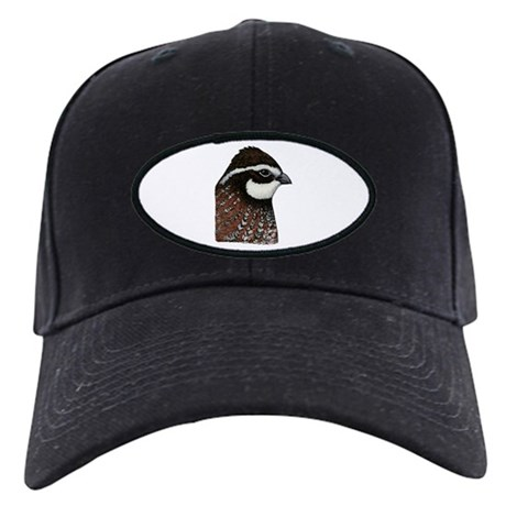 Bobwhite Quail Head Black Cap