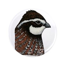 "Bobwhite Quail Head 3.5"" Button"