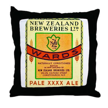 New Zealand Beer Label 3 Throw Pillow