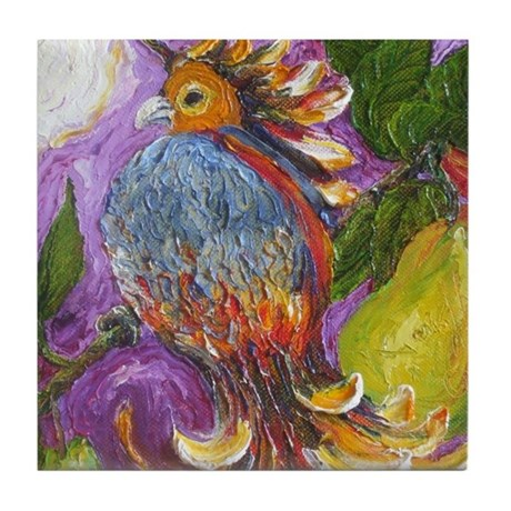 Partridge in a Pear Tree Tile Coaster