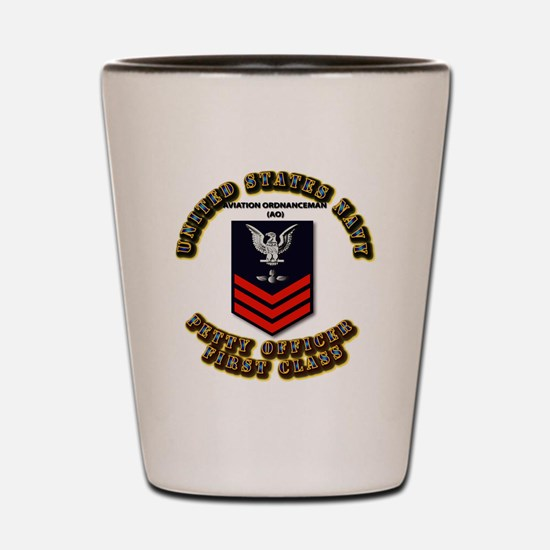 US Navy - AO with text Shot Glass