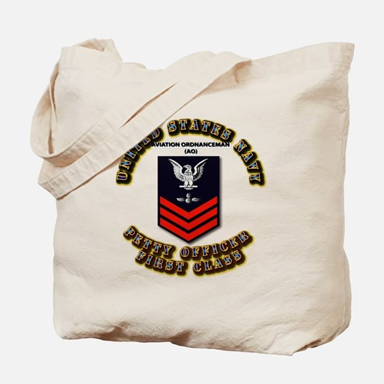 US Navy - AO with text Tote Bag