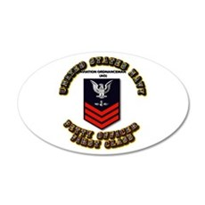 US Navy - AO with text 22x14 Oval Wall Peel