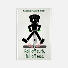 Cycling Hazard Fall Off Seat Rectangle Magnet