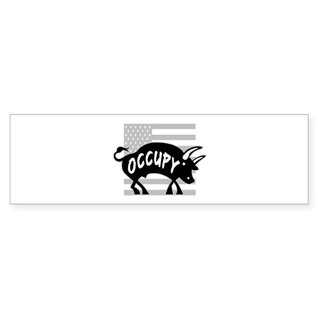 Occupy Bull Sticker (Bumper)