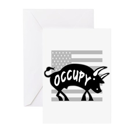 Occupy Bull Greeting Cards (Pk of 20)