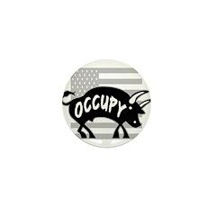 Occupy Bull Mini Button (100 pack)