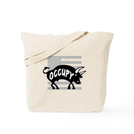 Occupy Bull Tote Bag
