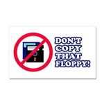 Dont copy that floppy Car Magnet 20 x 12