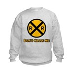 Dont cross me Kids Sweatshirt