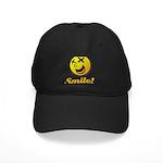 Shocking Smiley Black Cap