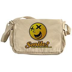 Shocking Smiley Messenger Bag
