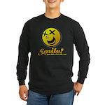 Shocking Smiley Long Sleeve Dark T-Shirt