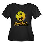 Shocking Smiley Women's Plus Size Scoop Neck Dark