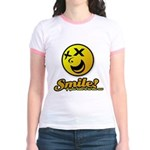 Shocking Smiley Jr. Ringer T-Shirt