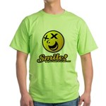 Shocking Smiley Green T-Shirt