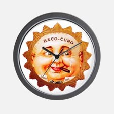Round Face Cigar Label Wall Clock