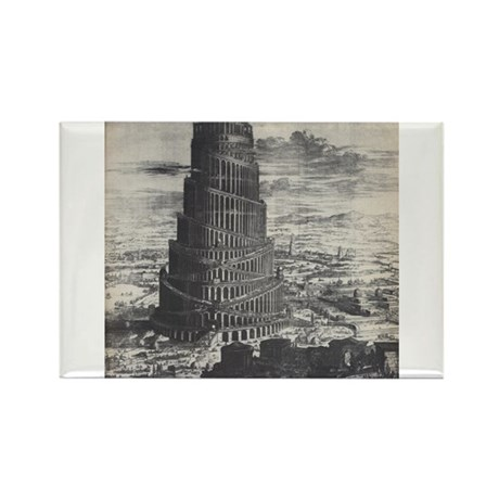Ancient Tower of Babel Rectangle Magnet (10 pack)