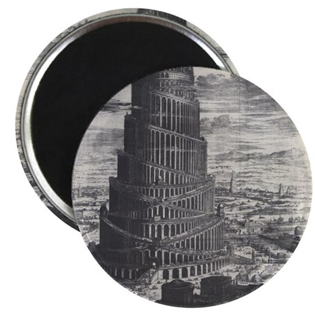 """Ancient Tower of Babel 2.25"""" Magnet (10 pack)"""