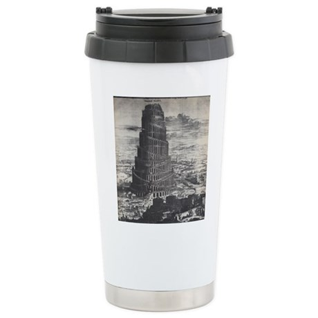 Ancient Tower of Babel Stainless Steel Travel Mug