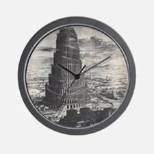 Ancient Tower of Babel Wall Clock