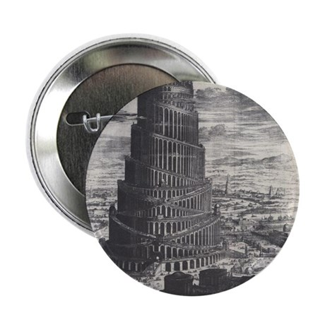 """Ancient Tower of Babel 2.25"""" Button (100 pack)"""