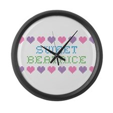 Sweet BEATRICE Large Wall Clock