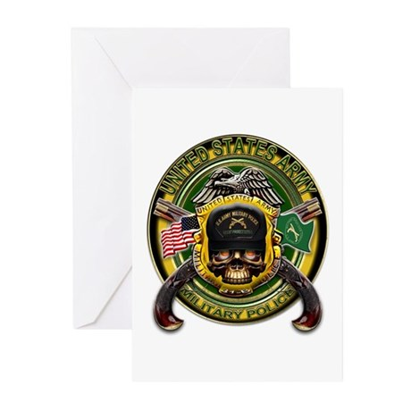 US Army MP Military Police Sk Greeting Cards (Pk o