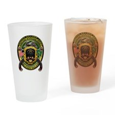 US Army MP Military Police Sk Drinking Glass