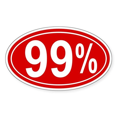 99 Percent Sticker (Oval)