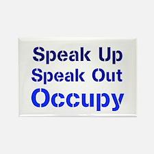 Speak Out (blue) Rectangle Magnet