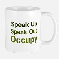 Speak Out (green) Mug