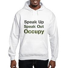 Speak Out (green) Hoodie