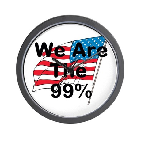 We Are The 99% Wall Clock
