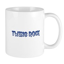 Blue Twins Rock Mug