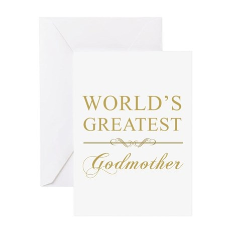 World's Greatest Godmother Greeting Card
