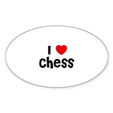 I * Chess Oval Decal
