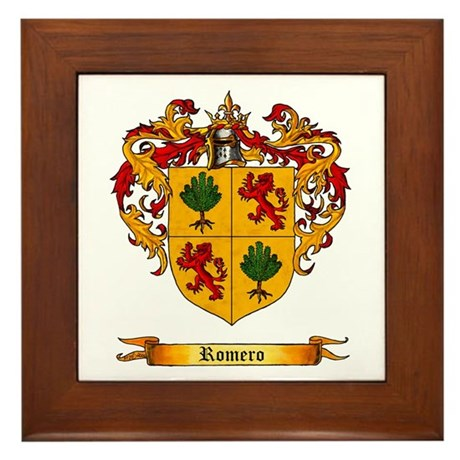 Romero Shield Of Arms Framed Tile