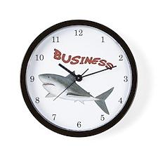 Business Shark Wall Clock